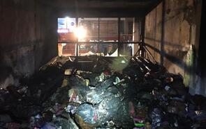 Mağaza, yangında kül oldu