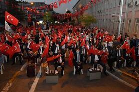 Balıkesir'de Milli İrade Meydanı'nda demokrasi nöbeti