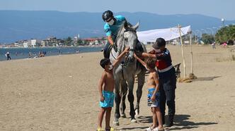 Bursa'nın sahilleri atlı jandarma timlerine emanet!