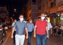 Şarköy'de kaymakam ve başkan maske denetiminde