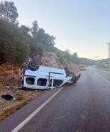 Kazada baba- oğul yaralandı