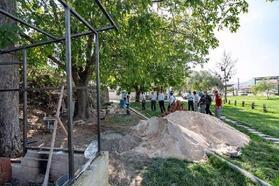 Başkan Bekler, mini hayvanat bahçesi inşaatını inceledi