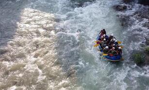 Tarsus Şelalesi'nde heyecan dolu ilk rafting