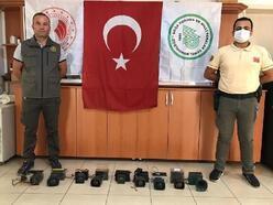 Kaçak avcılıkta kullanılan 9 adet ses cihazı ele geçirildi
