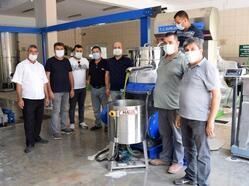 Zeytinyağı fabrikasında deneme üretimi
