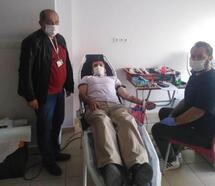 Hisarcık'ta 7 saatte 38 ünite kan toplandı