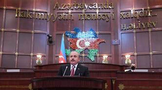 Son dakika... TBMM Başkanı Şentop, Azerbaycan Milli Meclisi'ne hitap etti