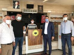 MHP'li Kara'dan esnafa teşekkür ziyareti
