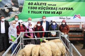 Mersin'de 60 üreticiye bin 500 küçükbaş hayvan desteği