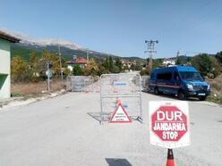 Ağlasun'da bir köy karantinaya alındı