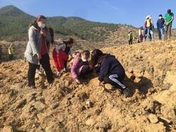 Alaşehir'de 3 bin 550 fidan toprakla buluşturuldu