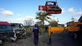 Lüleburgaz'da hurda araçlar toplanıyor