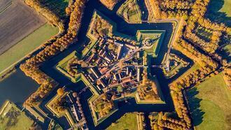 Hollanda'nın ünlü kalesi Bourtange