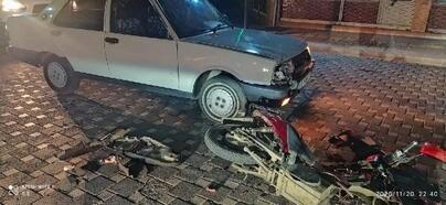 Otomobil ile çarpışan elektrikli bisiklet sürücüsü yaralandı
