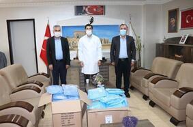 Midyatlı tekstilcilerden sağlık çalışanlarına koruyucu ekipman desteği