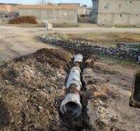Bağlar'da su taşkınlarından etkilenen mahalleye beton boru hizmeti