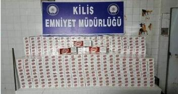 Kilis'te kaçak sigaraya 1 gözaltı