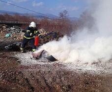 Hisarcık itfaiye personeline yangın eğitimi