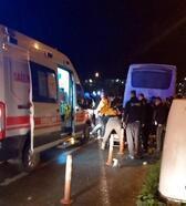 Lüleburgaz'da kaza yapan kurye ağır yaralandı