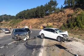 Gazipaşa'da zincirleme kaza: 4 yaralı