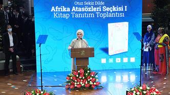 Emine Erdoğan 'Otuz Sekiz Dilde Afrika Atasözleri Seçkisi 1' kitabının tanıtım programında konuştu