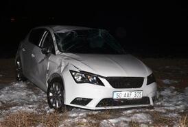 Kayseri'de otomobil şarampole devrildi: 4 yaralı