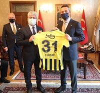 Fenerbahçe heyeti, Vali Rahmi Doğan'ı ziyaret etti