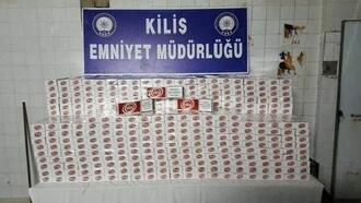 Kilis'te, kaçak sigaraya 2 gözaltı