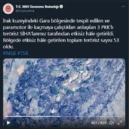 MSB: Gara'da 3 PKK'lı terörist etkisiz hale getirildi