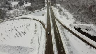 Bartın'da kar güzelliği