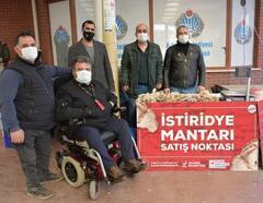 Engelli vatandaşların ürettiği istiridye mantarları satışa sunuldu