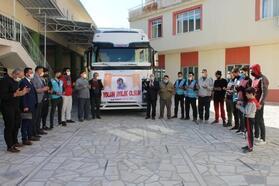 Osmaniye'den Suriye'ye yardım malzemesi gönderildi