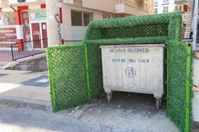 Aksaray'da çöp konteynırları estetik bir görünüme kavuşuyor