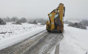 Manisa'nın yüksek kesimlerinde kar yağışı etkili oldu