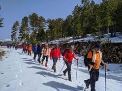 Denizlili dağcılar 2364 metrelik dağa tırmandı