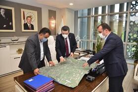 TİSKİ Müdürü Tekataş, Başkan Genç ile altyapı çalışmalarını değerlendirdi