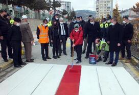 Yozgat'ta, 'Yayalar Kırmızı Çizgimiz' uygulaması başladı