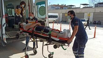 Forkliftin çarptığı işçi yaralandı