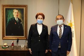 Mehmet Başaran, Akşener'i ziyaret etti
