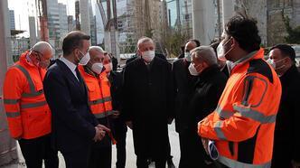 Cumhurbaşkanı Erdoğan, yapımı devam eden Levent Camisi'ni inceledi