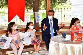 Başkan Çetin'den çevreci çocuklara teşekkür ziyareti