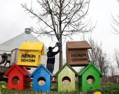 Konya Büyükşehir Belediyesi  bin 250 adet kuş yuvası  yaptı