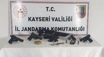 Kayseri'de silah kaçakçılığı operasyonunda 9 gözaltı