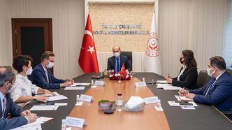 Bakan Bilgin, AB Türkiye Delegasyonu Başkanı ile görüştü