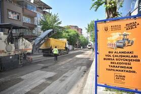 Bursa'da Profesör Tezok Caddesi sil baştan yenileniyor
