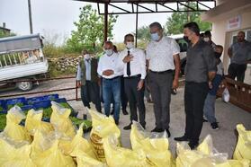 Tarsus'ta 7 ton gübre, 50 bin fide ücretsiz dağıtıldı