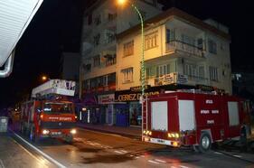 Serik'te ev yangını