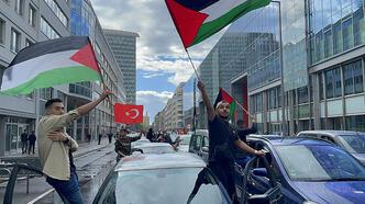 Son dakika... Almanya'da İsrail'in saldırıları protesto edildi!
