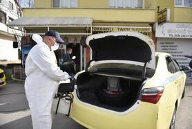 Tuzla'da toplu taşıma araçları dezenfekte ediliyor