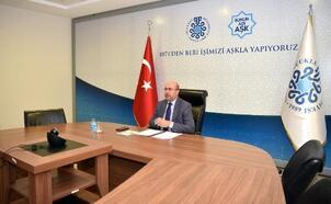 Selçuklu Belediye Başkanı Ahmet Pekyatırmacı, Belediyeler Birliği toplantısında sıfır atık projesini anlattı